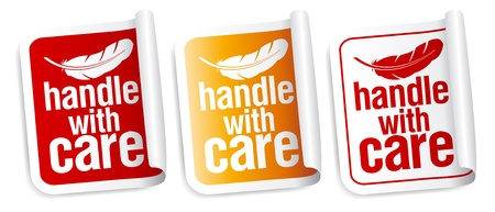 handle with care: Handle with care packing stickers set