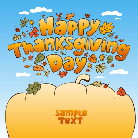 Happy Thanksgiving Day card. Stock Vector - 10848321