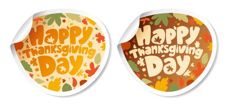 Wszystkiego najlepszego z okazji Thanksgiving Day. Naklejki