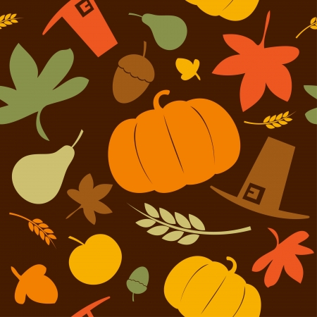 Autumn seamless background, Thanksgiving day. Stock Vector - 10848315
