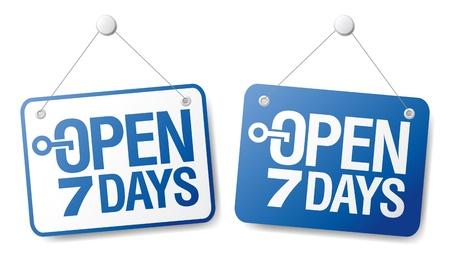 open windows: 7 D�as signos abiertos establecidos