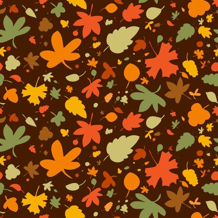 Autumn seamless background, vector illustration. Stock Vector - 10957428
