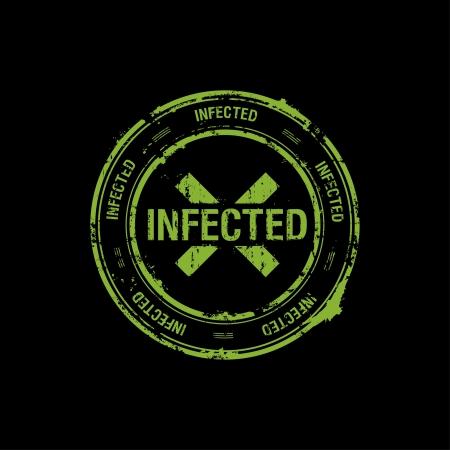 biohazard: timbre vecteur, infect�, danger Illustration