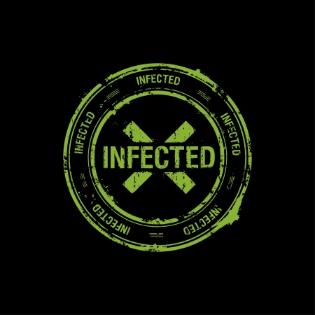 biohazard symbol: vector stamp, infected, danger