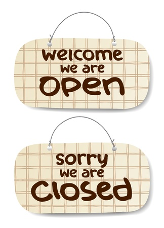 Vector Open and Closed Signs  Stock Vector - 10957433