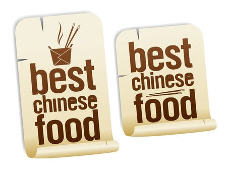 takeout: Chinese food stickers set.