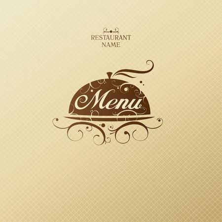 Menú de un restaurante de diseño de tarjetas de la plantilla.