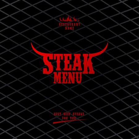 Menu karty Steak szablonu projektu. Ilustracja