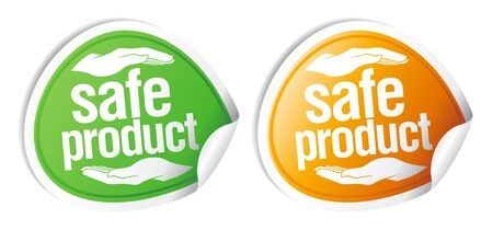 bio safety: Safe product stickers set.