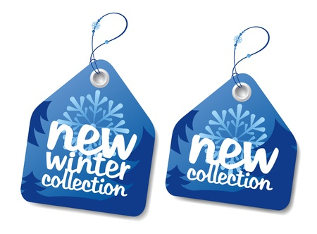 New winter collection labels. Vector