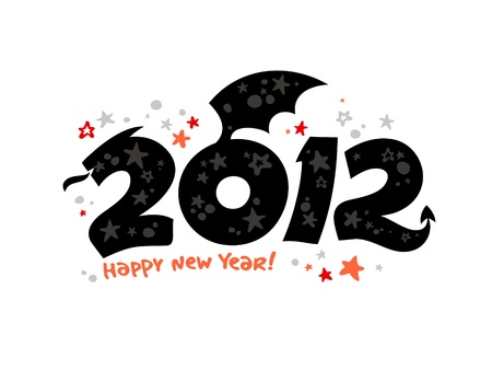 2012 year design in the form of a Dragon. Stock Vector - 11261903