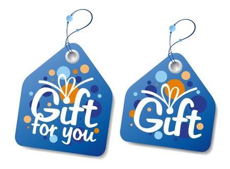 Étiquettes de collecte cadeaux.