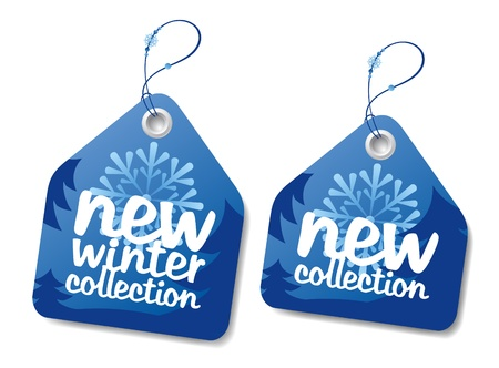 New winter collection labels. Stock Vector - 11261931