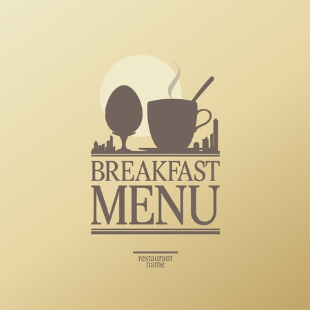 cooked: Breakfast Menu Card Design template.