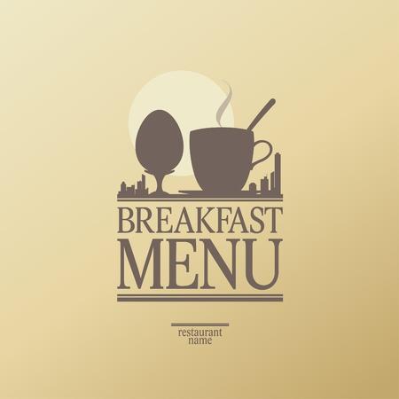 petit déjeuner: Menu déjeuner Card Design modèle.