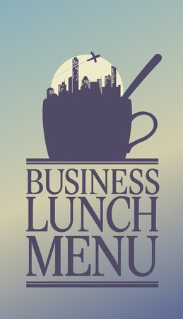continental: Business Lunch Menu Card Design template.