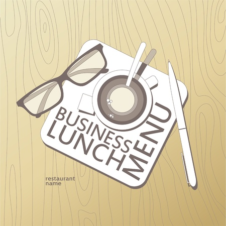 Business Lunch Menu Card Design template. Stock Vector - 11261921