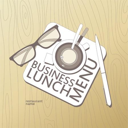 continental food: Business Lunch Menu Card Design template.