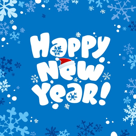 Happy new year card. Vector