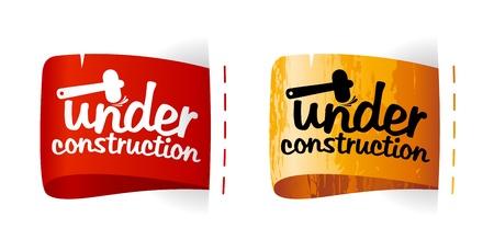 Under construction labels set. Stock Vector - 11261949