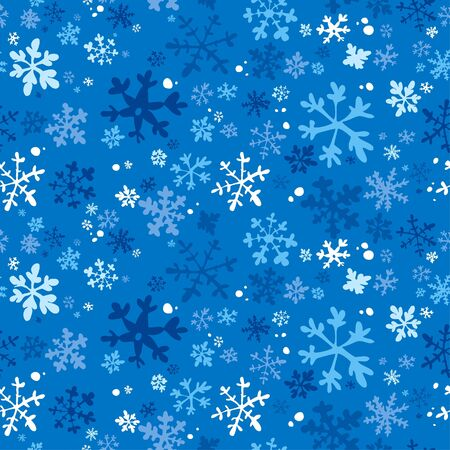 Winter seamless background, vector illustration. Vector