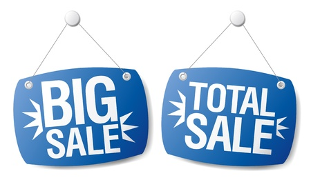 Big sale signs set. Vector