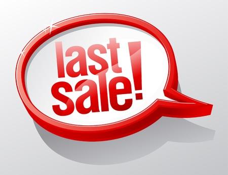 Last Sale shiny glass speech bubble. Stock Vector - 11489064