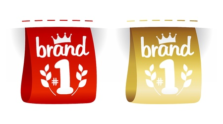 Brand number one labels set. Vector