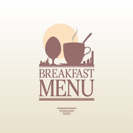 megapolis: Breakfast Menu Card Design template.