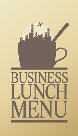 lunch break: Business Lunch Menu Card Design template.