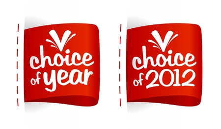 Choice of year labels set. Vector