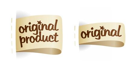 etiquetas de ropa: Las etiquetas originales de los productos que figuran. Vectores