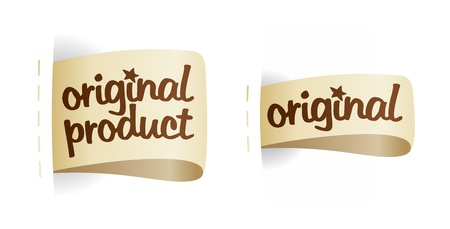 Original product labels set. Vector