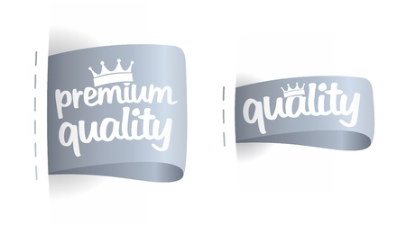 first rate: Premium quality labels set. Illustration