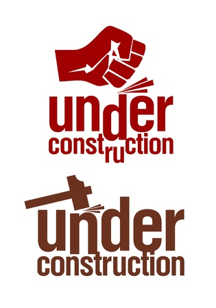 Under construction signs set. Stock Vector - 11657228