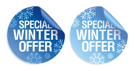Special winter offer stickers set. Stock Vector - 11657503