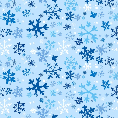 Winter seamless background, illustration. Vector