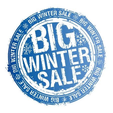 Big winter sale rubber stamp.