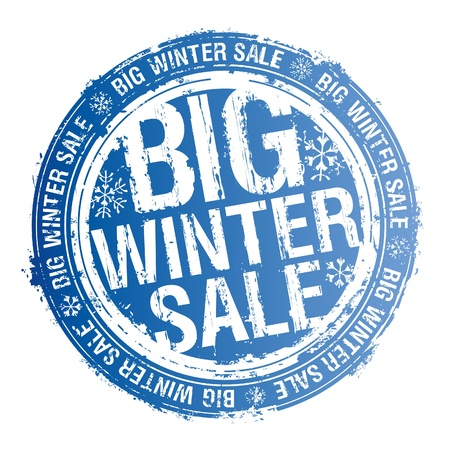 big icons: Big winter sale rubber stamp.