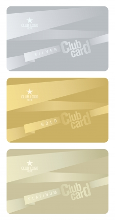 subscription: Club plastic cards design template.