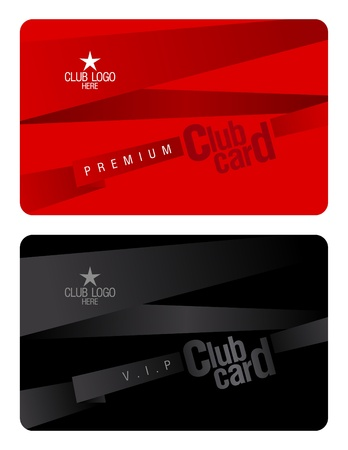 membership: Club plastic card design template. Illustration