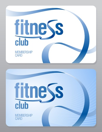 access card: Fitness club membership card design template.