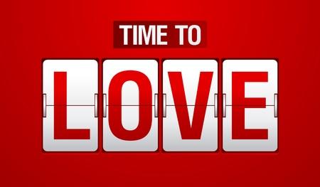 Time to love analog flip clock. Stock Vector - 11905857