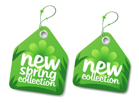 hot spring: New spring collection labels.
