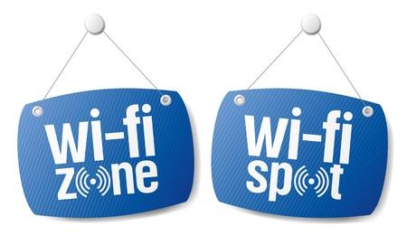 broadcasting: wi-fi a internet se�ales de se�al a la tienda y bar. Vectores