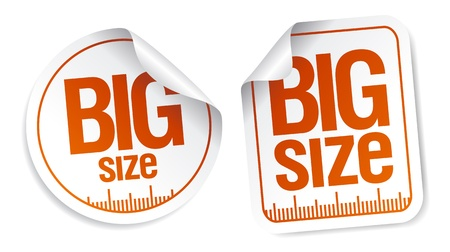big size: big size clothing stickers set