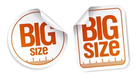 xxxl: big size clothing stickers set