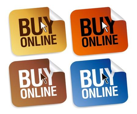 Buy online stickers set. Stock Vector - 11992506