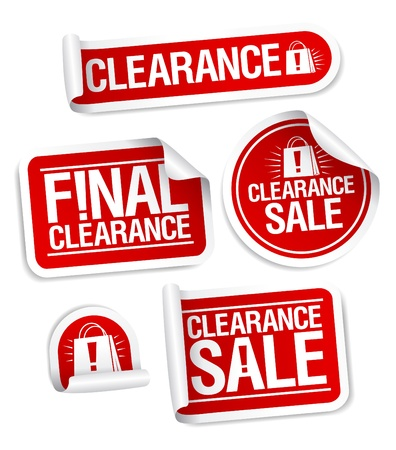 ollection: Final clearance sale stickers. Illustration