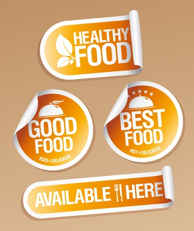Best Healthy Food stickers pack. Stock Vector - 11976680